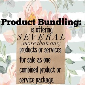 Bundling means more than one